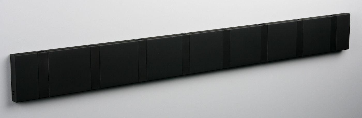 KNAX Knagerække Soft sort - 8 sorte knager