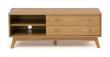 Woodman - Kensal Tv-bord - Lys træ - TV-bord med 2 skuffer