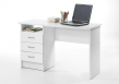 Function Skrivebord - Hvid m/3 skuffer