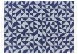 Twist a Twill Plaid, Marineblå Uld, 190x130