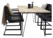 Art Spisebordsstol, Sort Kunstlæder