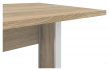 Prima Skrivebord - Lys træ 120cm m/metalben