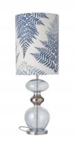 Ebb&Flow - Futura lampefod, topaz blue, Sølv base