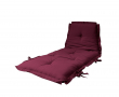 Sit&Sleep Futon madras/stol, Bordeaux