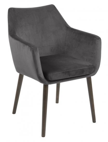 Amada Spisebordsstol m/armlæn - Mørkegrå