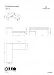 Cliff TV-bord - Mat hvid - Todelt TV-bord i hvit