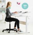 FLEXA - Study Hæve/sænke Skrivebord - Hvid