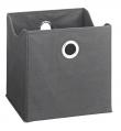 Opbevaringskasser - Grå - Grå tekstilkasser - 9 stk