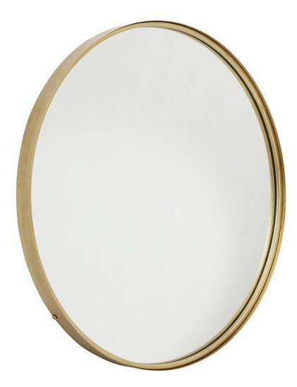Nordal - Spejl Ø80 cm - Guldramme - Spejl med guldramme
