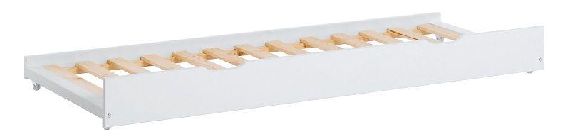 Hoppekids Udtræksseng - Hvid udtræksseng - 70x190 cm