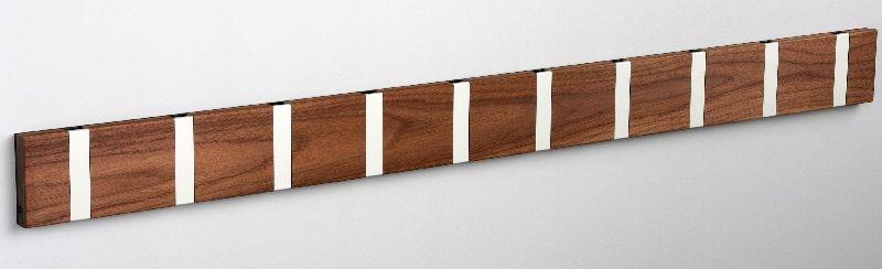 KNAX Knage - 10 knager - Valnød - Knagerække i valnød med 10 knager
