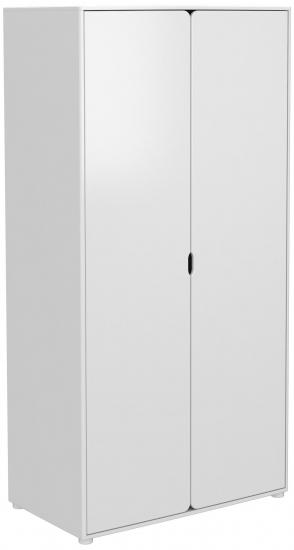 FLEXA Cabby højt klædeskab m. 2 låger - hvid
