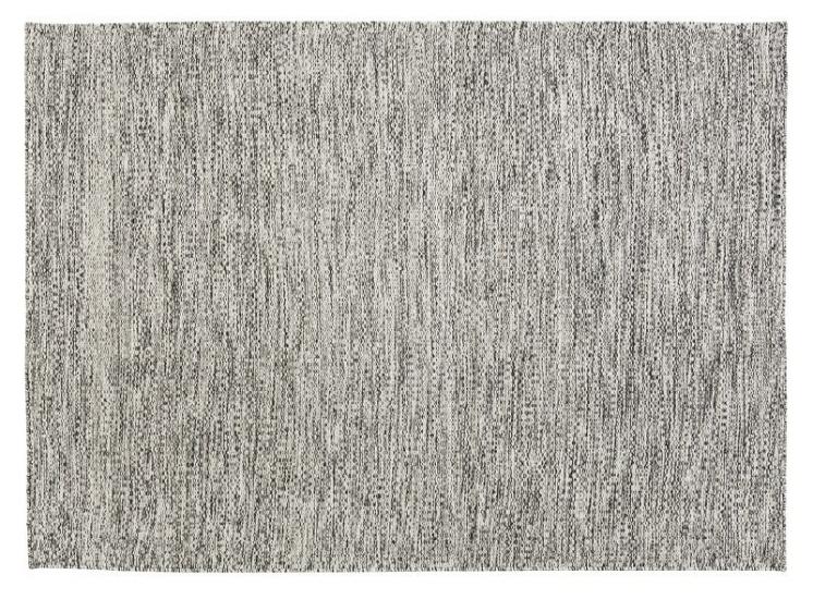 Fabula Gimle tæppe - Hvid meleret - Håndvævet Kelim 140x200 cm