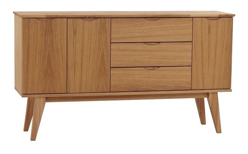 Filippa Skænk, 3 skuffer - egefinér - Skænk med 3 skuffer og 3 skabe
