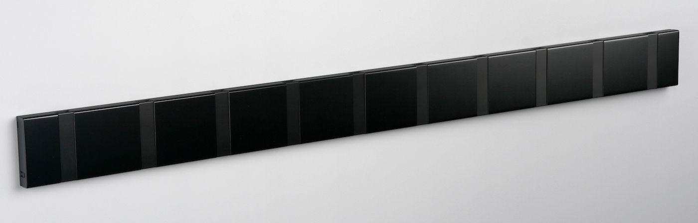 KNAX Knagerække Sort - 10 sorte knager