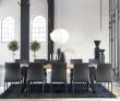 Rustic Spisebord - 100x290 - Eg og sort metal