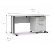 Prima Skrivebord - Hvid m/Skuffemodul