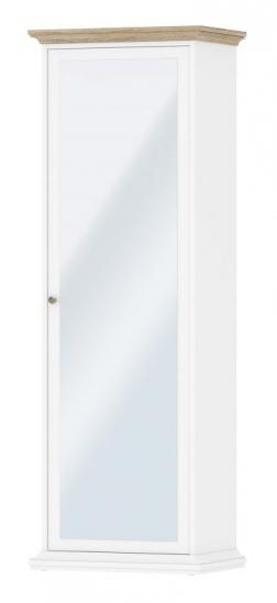 Paris Garderobeskab - Hvid - Hvidt garderobeskab med spejlfront