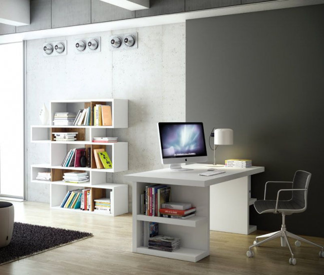 Temahome Multi Skrivebord - Skuffeben - Hvid