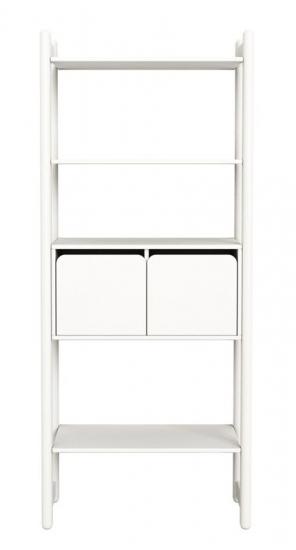 Flexa Shelfie Maxi Reol - hvid - Combi C med skabslåger