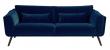 Pelham 3-pers. sofa - Blå Velour - Sofa med sorte egetræsben