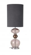 Ebb&Flow - Futura lampefod, obsidian, Sølv base