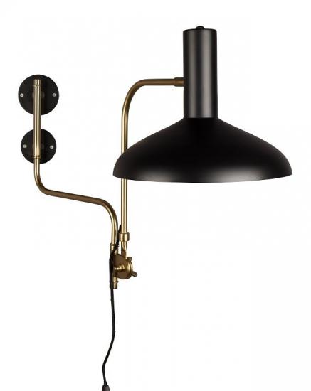 Dutchbone - Devi Væglampe - Sort - Sort væglampe