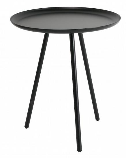 homii Frost Sidebord - Grå, Ø39 - Sidebord i svart/mørk grå