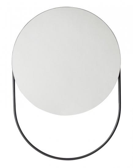 WOUD - Verde Spejl Ø60 cm - Sort
