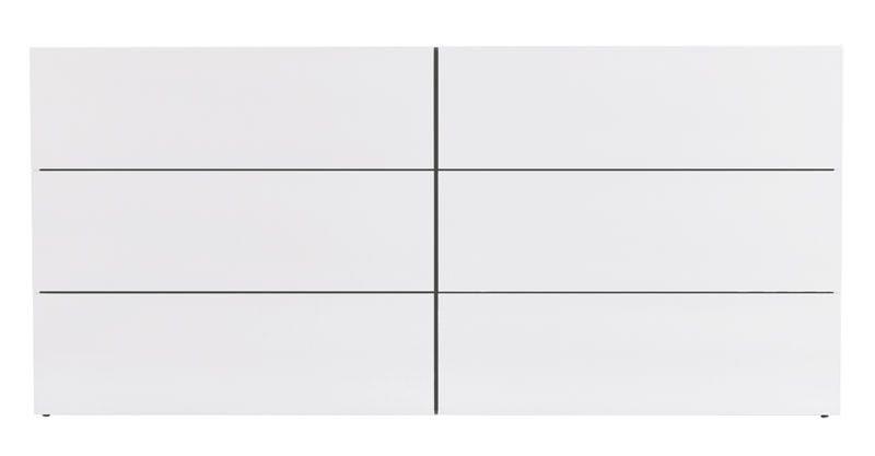 Temahome - Aurora Kommode - Hvid m/6 skuffer - Dobbelt kommode i hvid