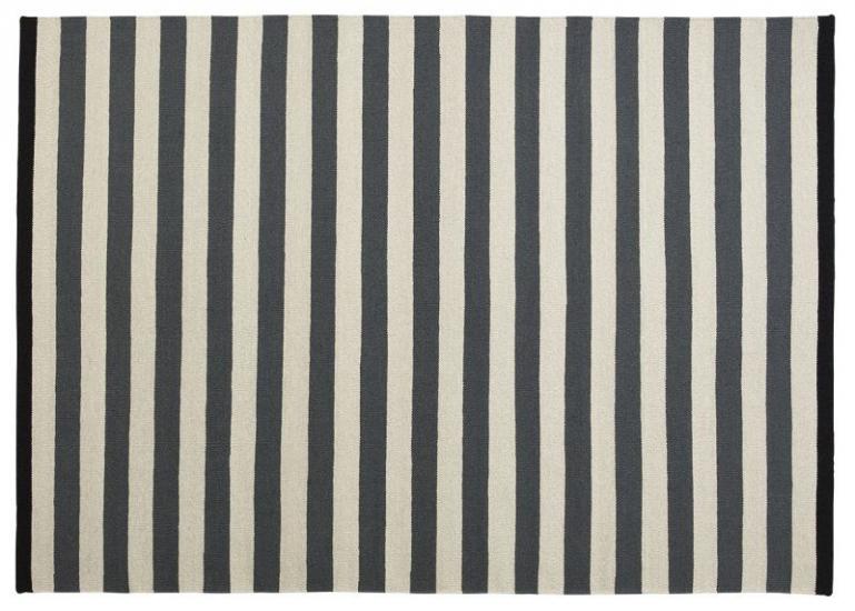 Fabula Nigella tæppe - Koksgrå/Grå - Håndvævet Kelim 200x300 cm