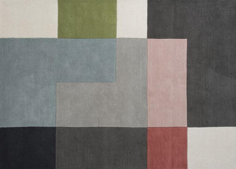 Linie Design Tetris - Powder Tæppe - 140x200 - 140x200 cm