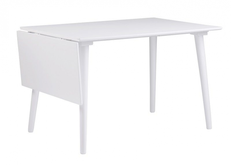 Otto Klapbord - Hvid 120x80 - Med klap - 160cm