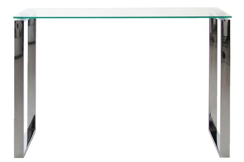 Toftdal Konsolbord - Metal - Konsolbord m. glasplade og stel i krom