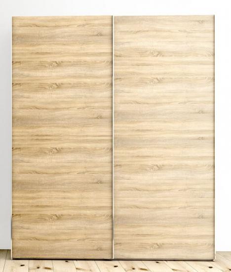 Firenze Garderobeskab - Lys træ - Garderobeskab med skydelåger - lyst træ