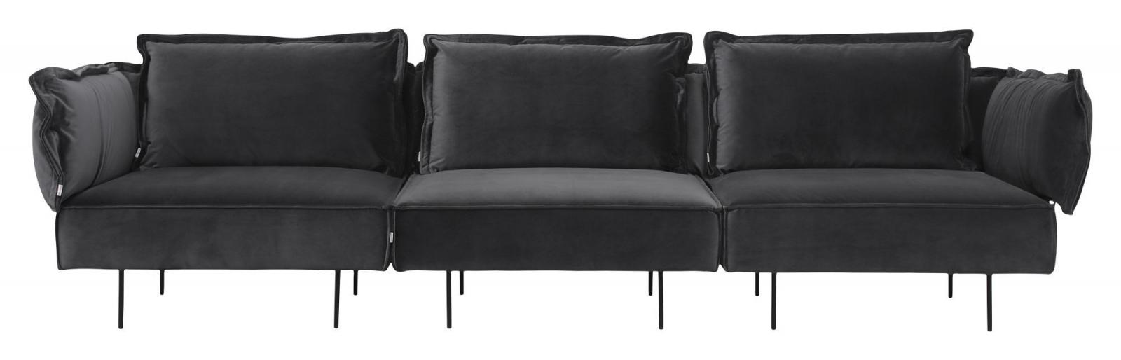 HANDVÄRK The Modular 3-pers. sofa Grå Velour