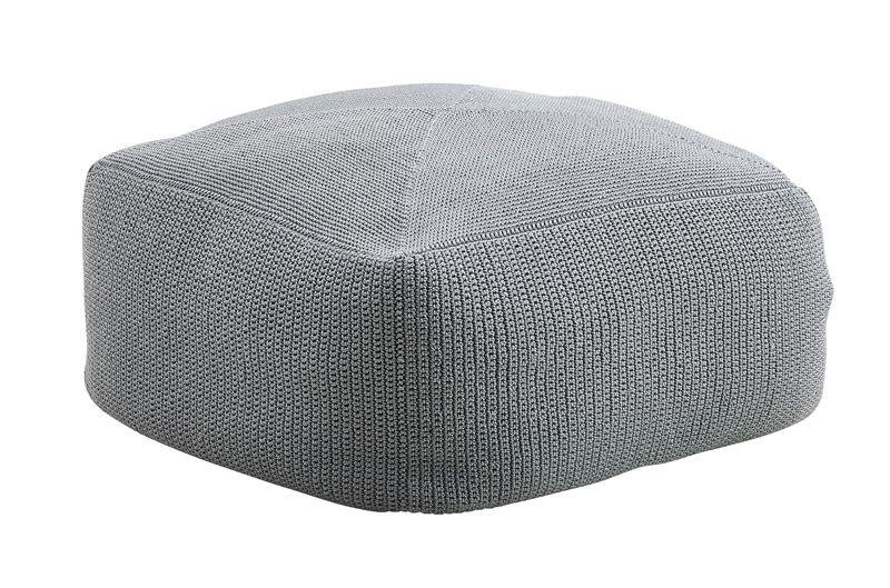 Divine Puf - Grå - Cane-line Hæklet grå puf