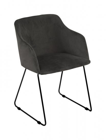 Casablanca 40 Spisebordsstol m/armlæn - Antracit/Sort