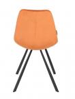 Dutchbone Franky Spisebordsstol - Orange velour