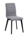 Trend Spisebordsstol - Lysegrå m. sorte ege ben - Sort egetræsspisebordsstol med gråt sæde