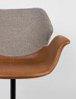 Zuiver Nikki Spisebordsstol - Brun PU sæde