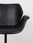 Zuiver Nikki Spisebordsstol - Sort PU læder