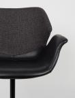Zuiver Nikki Spisebordsstol - Sort PU sæde