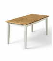 Daisy Spisebord - hvidpigmenteret fyrretræ 160x80 - Hvidpigmenteret spisebord