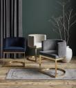 Nordal - Lounge Spisebordsstol - Blå velour