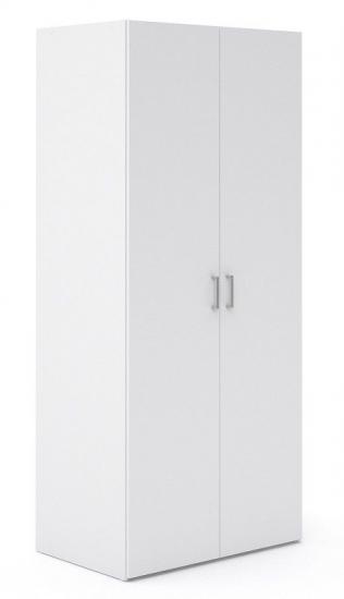 Space Garderobeskab - 2 låger - Hvid - Hvidt garderobeskab med to låger