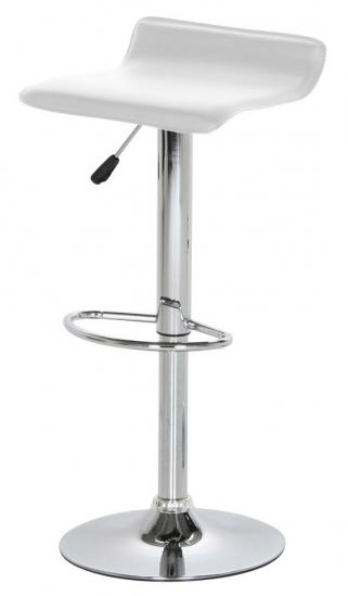Mano Barstol - Hvid - Barstol med hvidt kunstlæder
