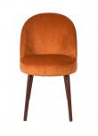 Dutchbone Barbara Spisebordsstol - Orange velour