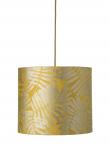 Ebb&Flow - Lampeskærm, fern leaves wild, gul, Ø35