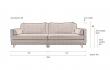 Dutchbone - Linde 3-pers. Sofa - Mørk grå